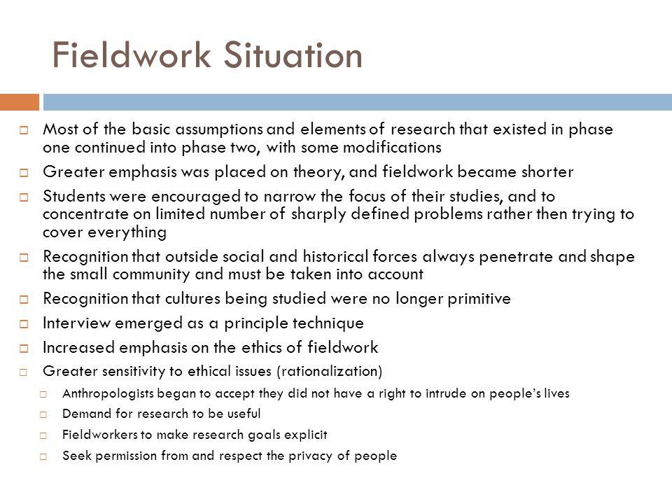 Fieldwork Situation