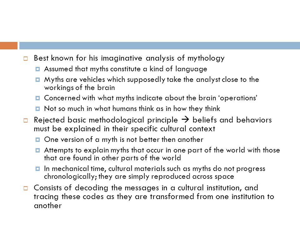 Best known for his imaginative analysis of mythology