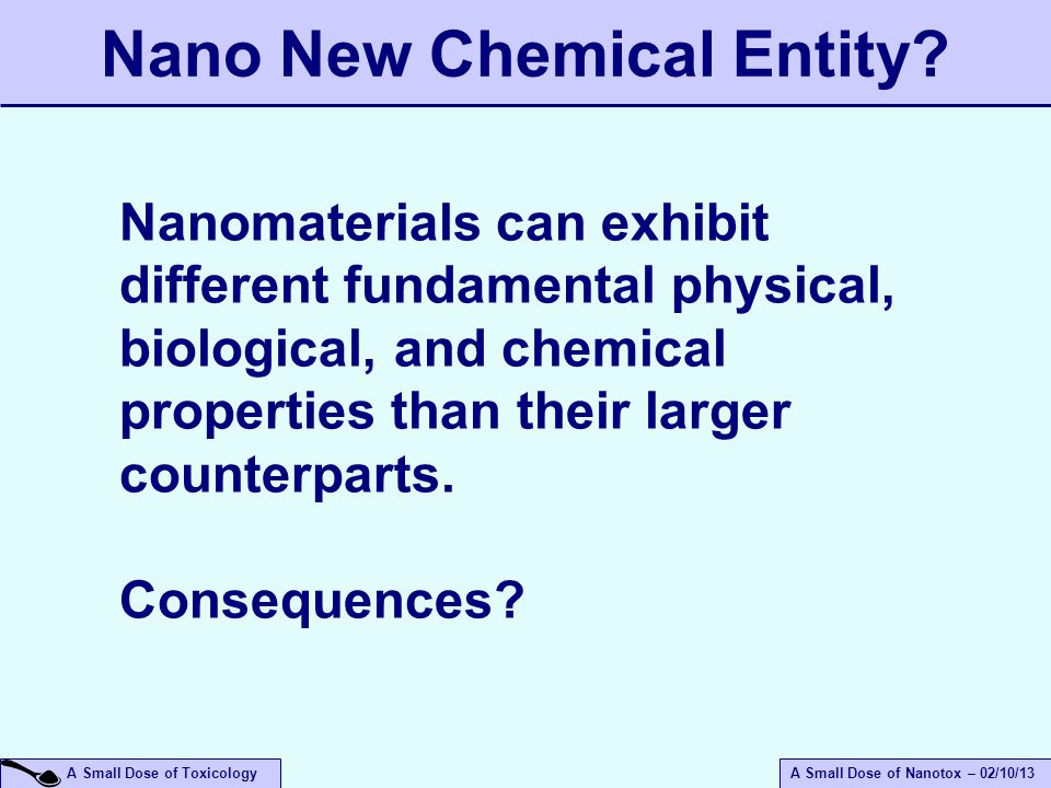 Nano New Chemical Entity