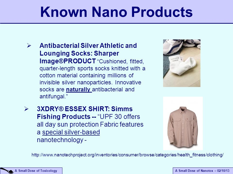 April 14, 2017 Known Nano Products.
