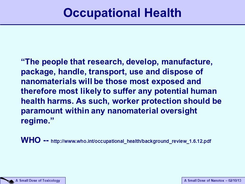 April 14, 2017 Occupational Health.