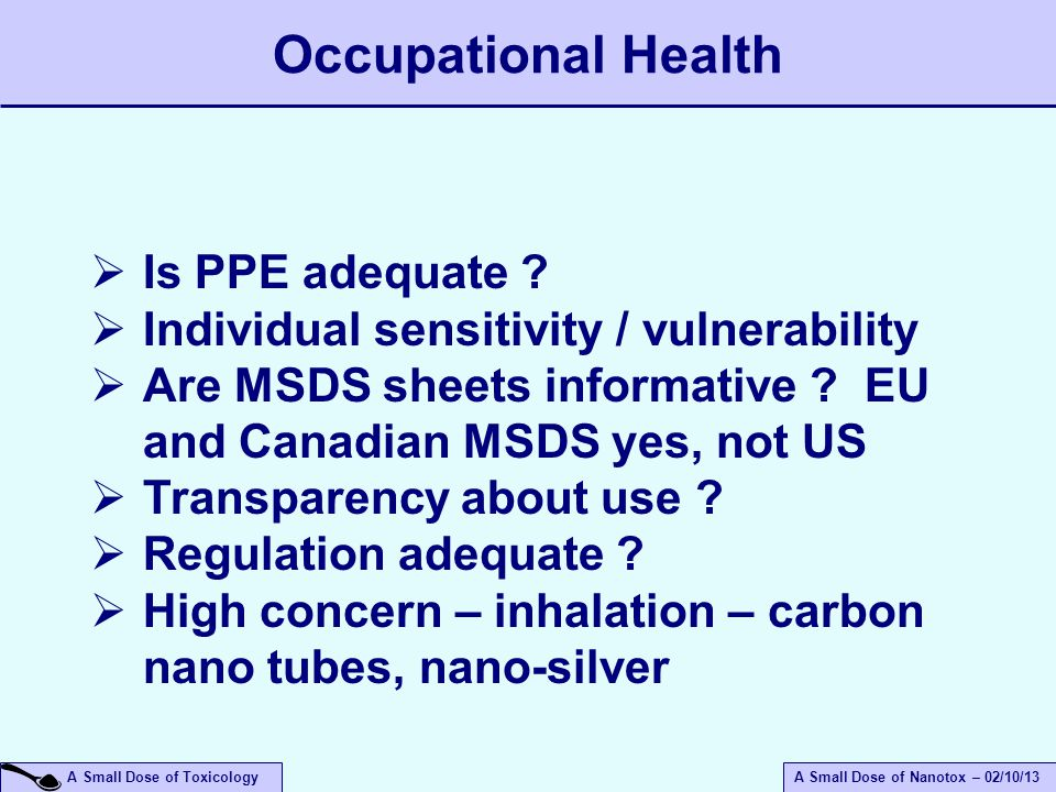 Occupational Health Is PPE adequate