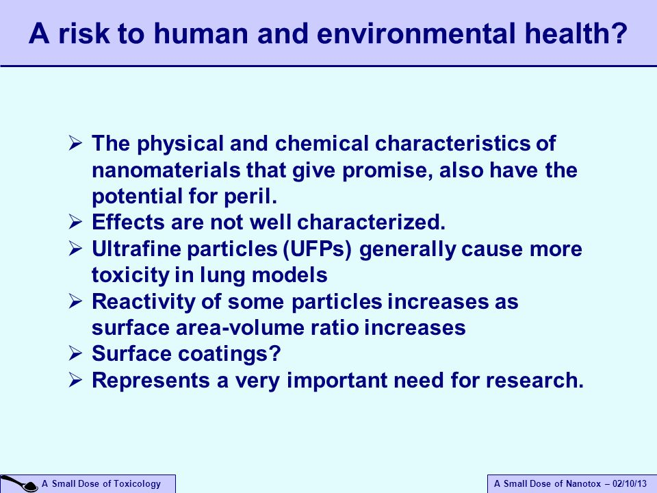 A risk to human and environmental health