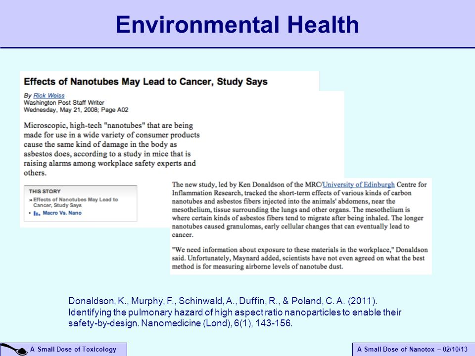April 14, 2017 Environmental Health.