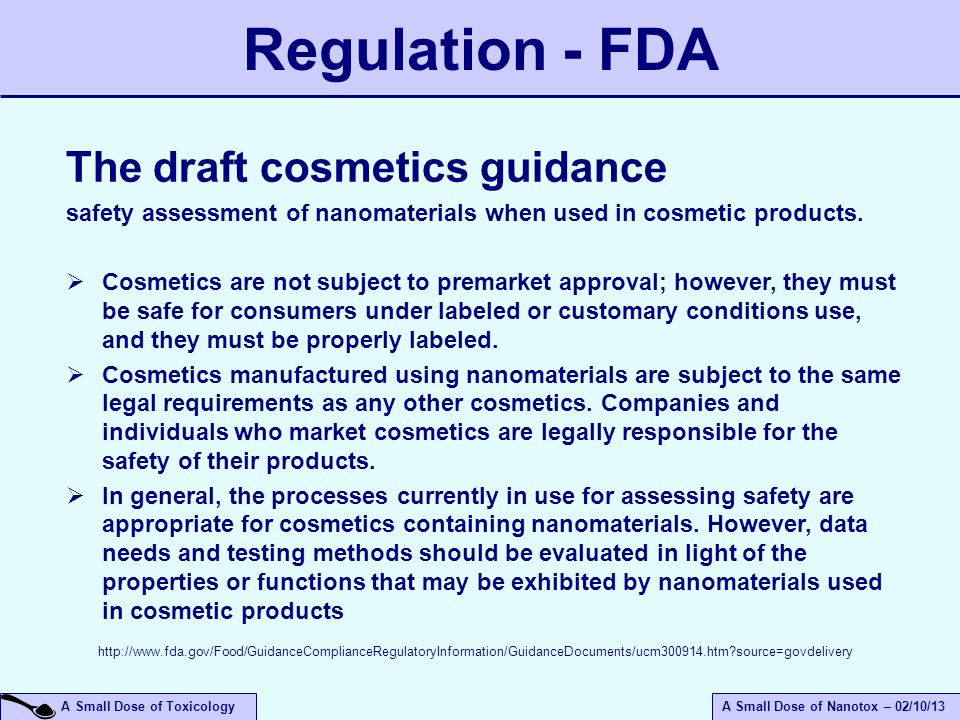 Regulation - FDA The draft cosmetics guidance