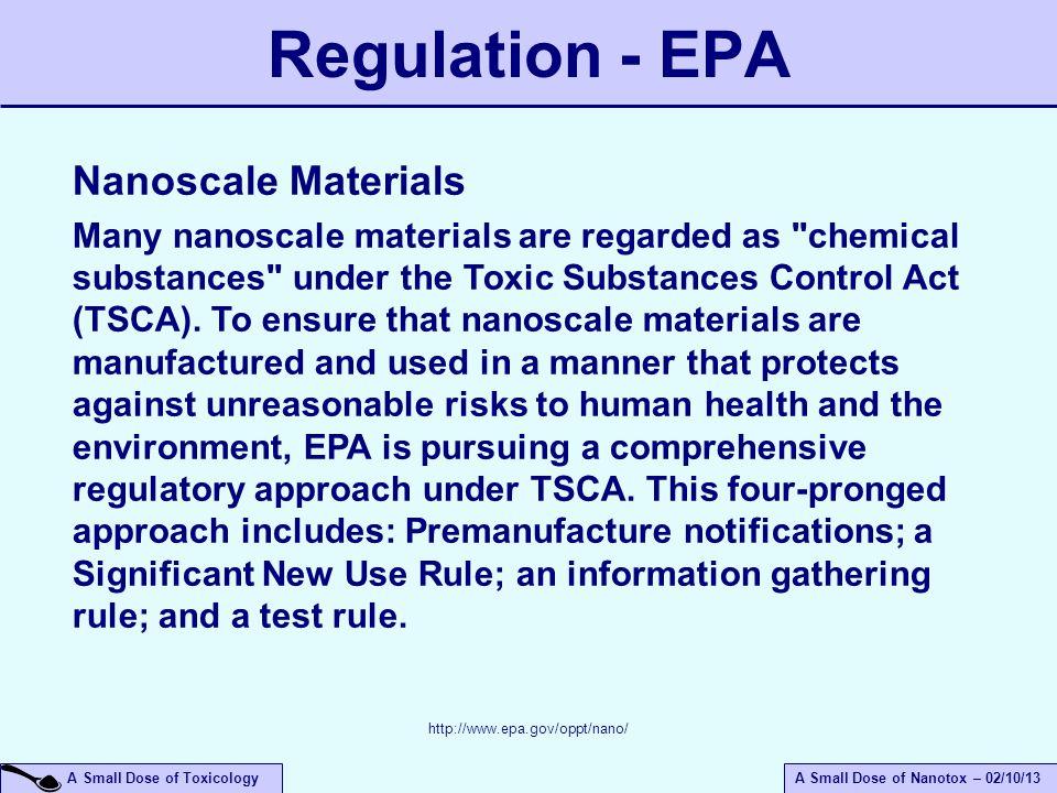 Regulation - EPA Nanoscale Materials