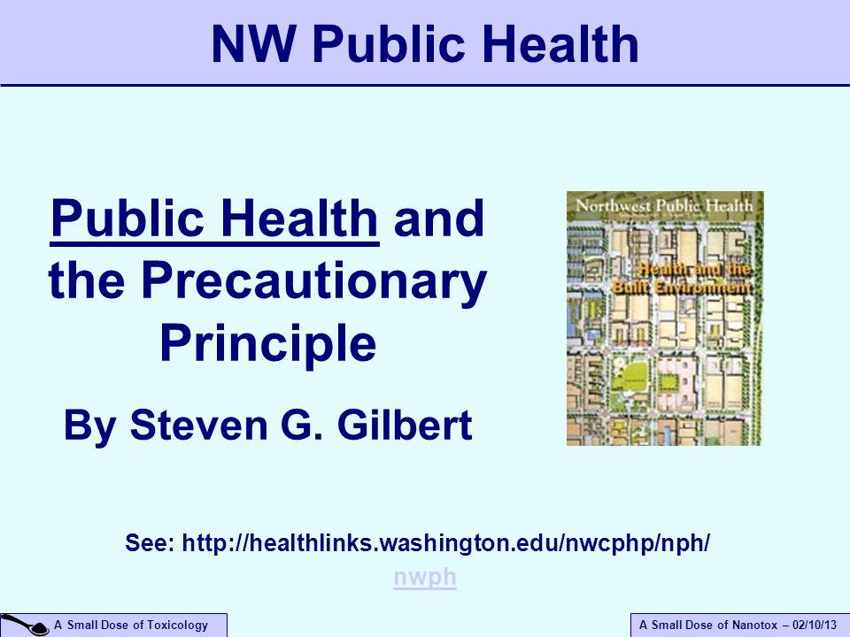 NW Public Health Public Health and the Precautionary Principle
