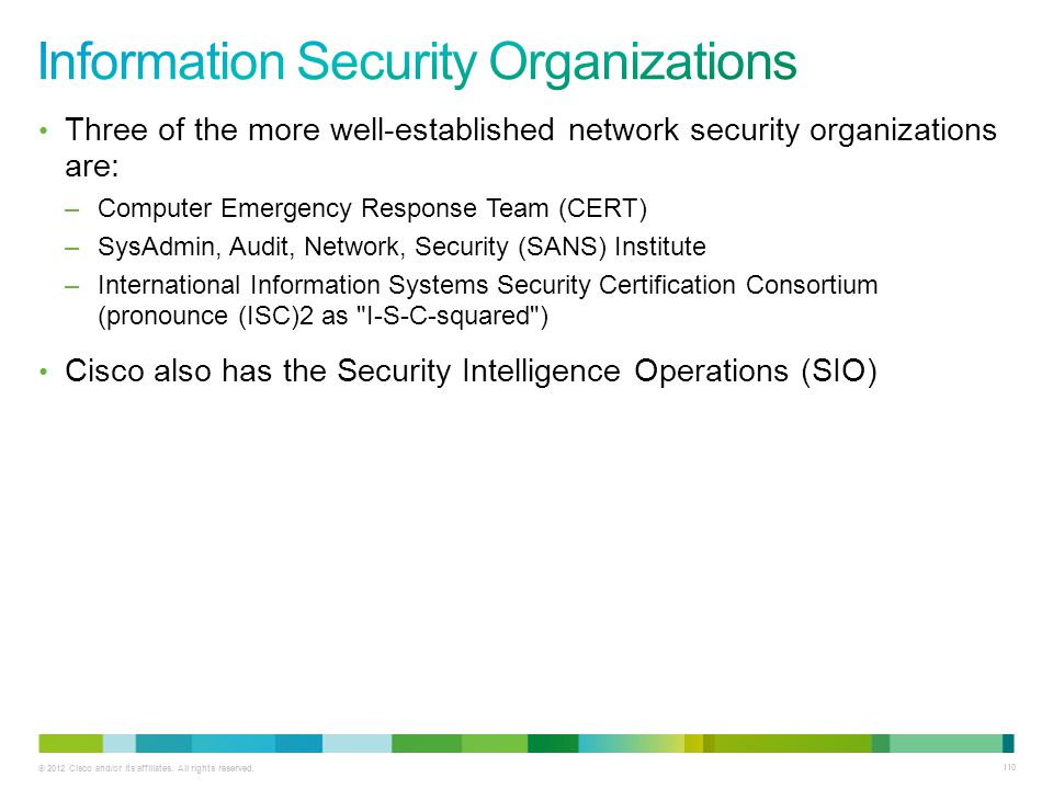 Information Security Organizations