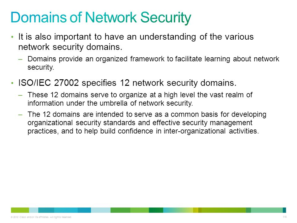 Domains of Network Security