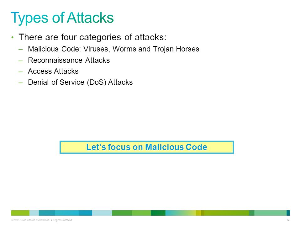 Let's focus on Malicious Code