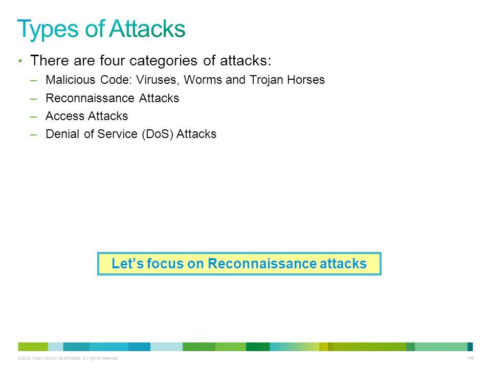 Let's focus on Reconnaissance attacks