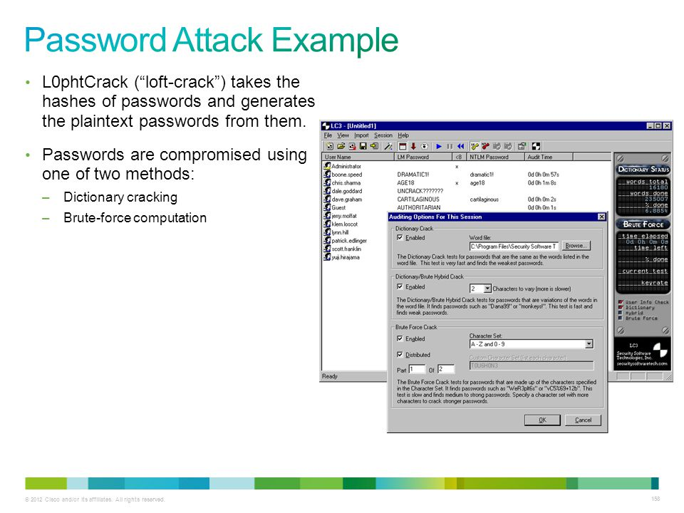 Password Attack Example