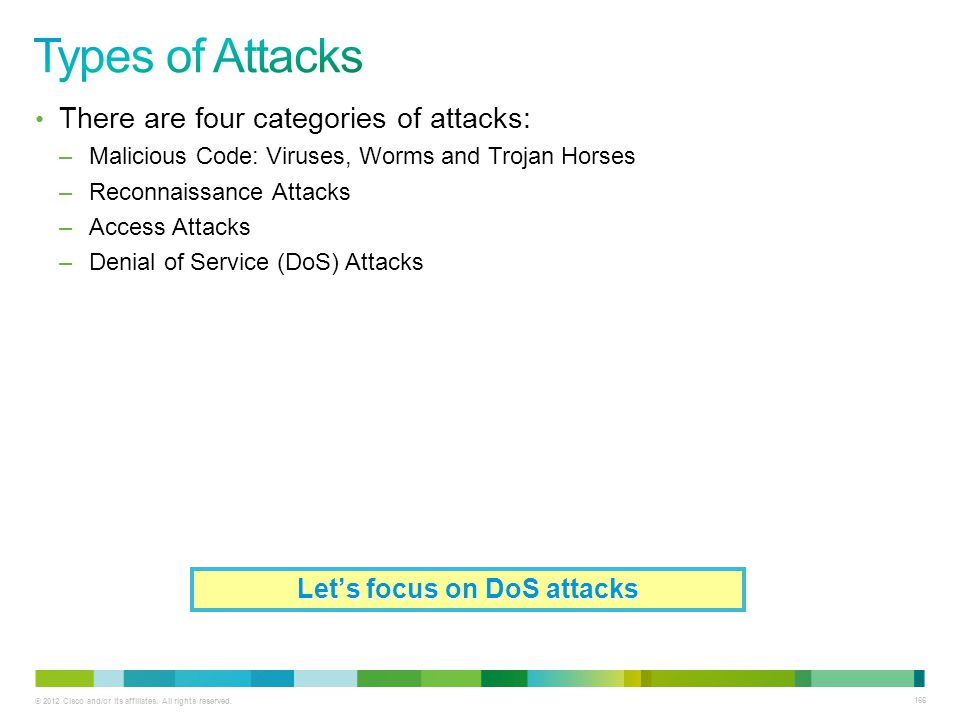 Let's focus on DoS attacks