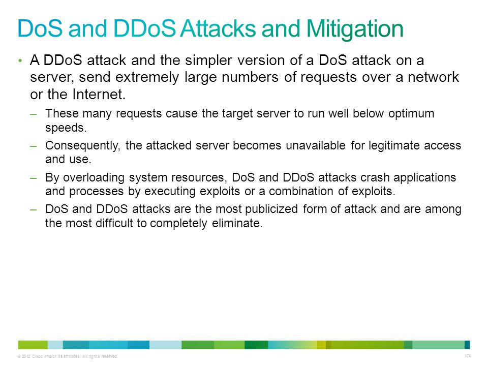 DoS and DDoS Attacks and Mitigation