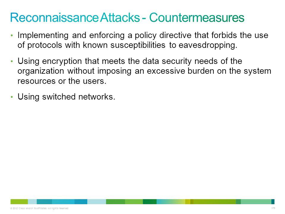Reconnaissance Attacks - Countermeasures