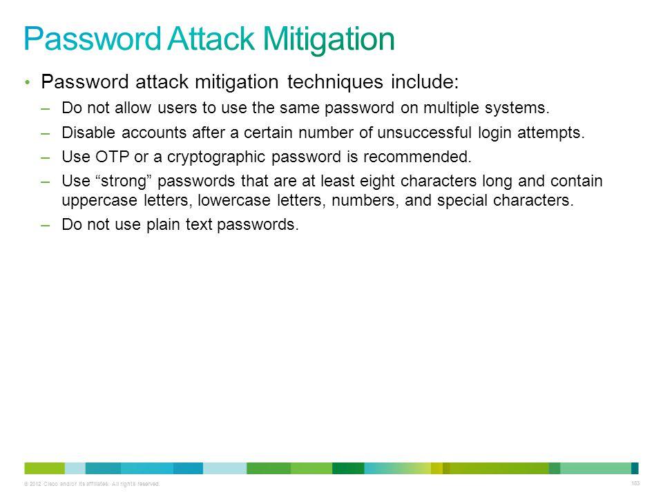 Password Attack Mitigation