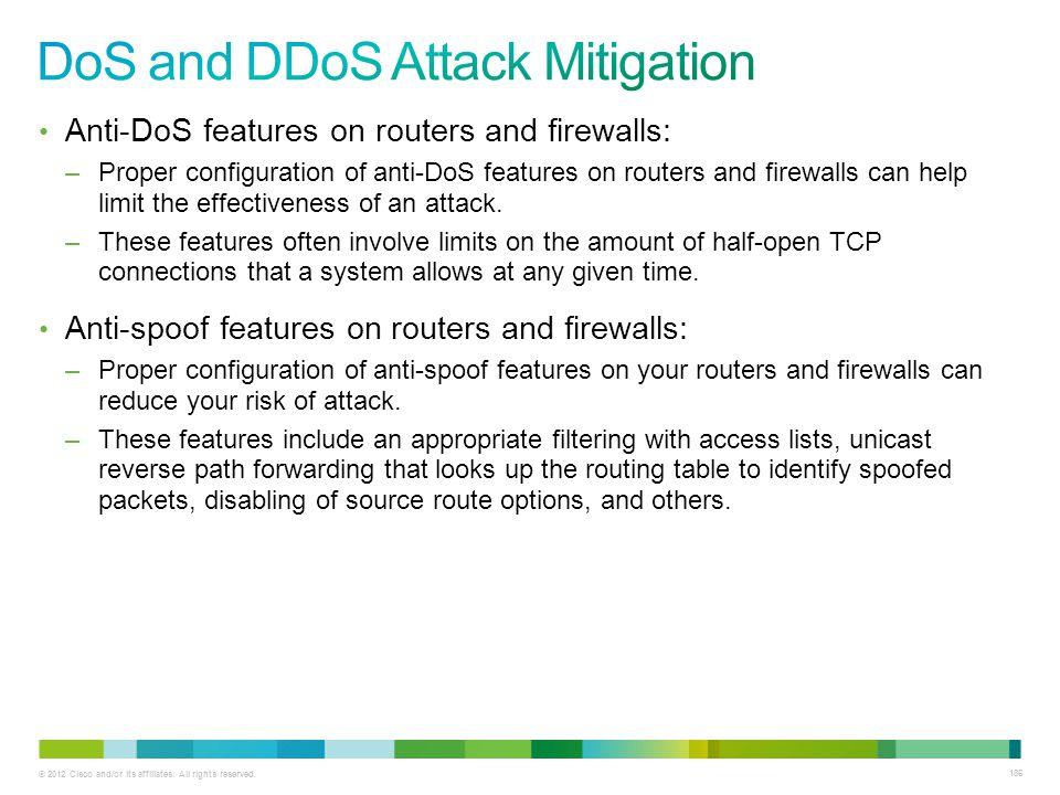 DoS and DDoS Attack Mitigation
