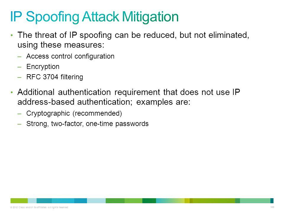 IP Spoofing Attack Mitigation
