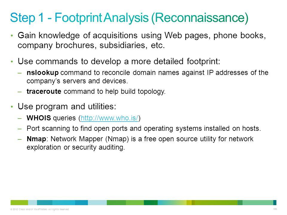 Step 1 - Footprint Analysis (Reconnaissance)