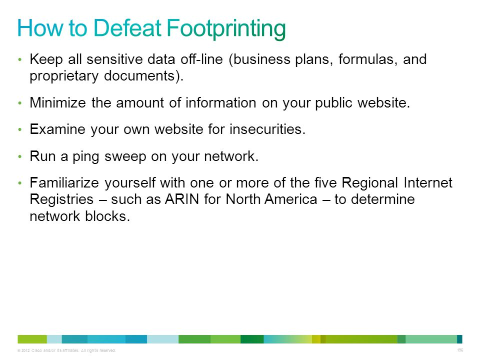 How to Defeat Footprinting