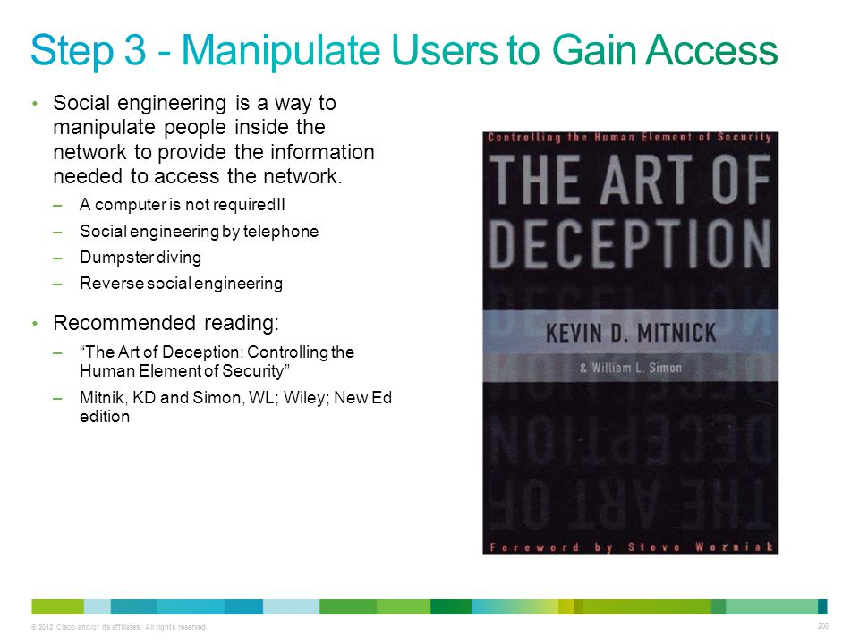 Step 3 - Manipulate Users to Gain Access