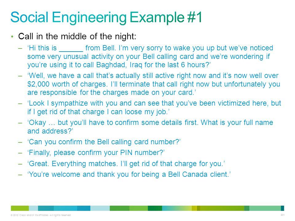 Social Engineering Example #1