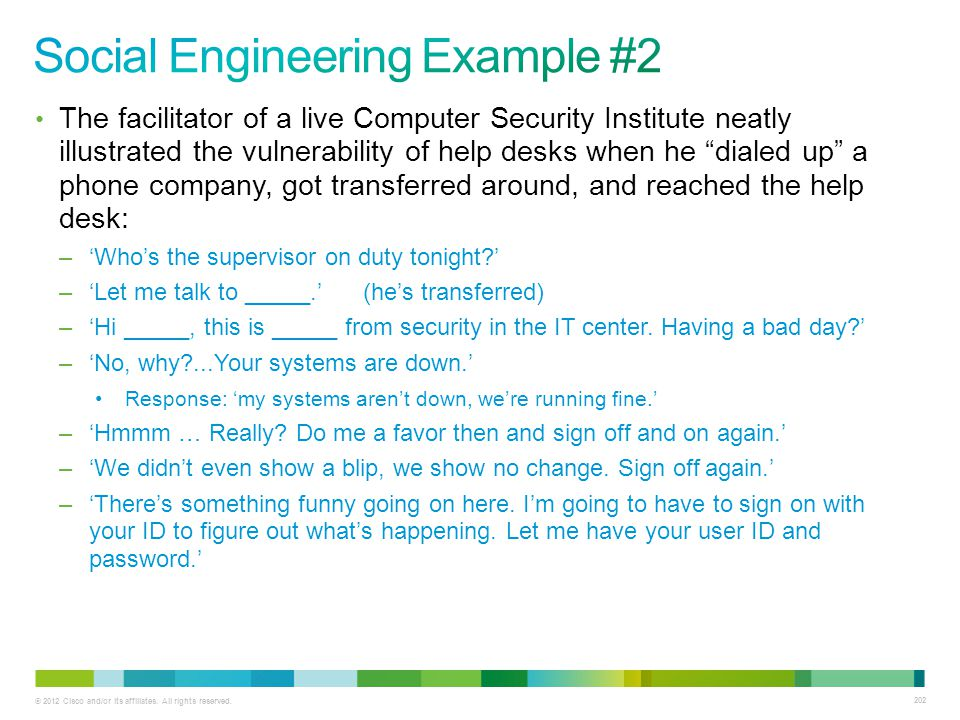 Social Engineering Example #2
