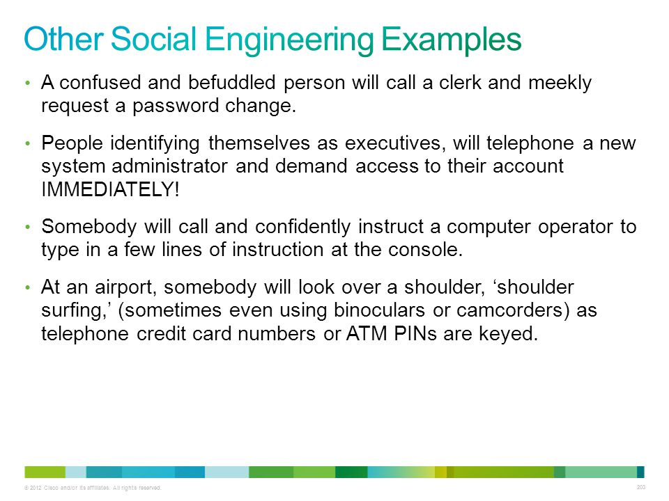 Other Social Engineering Examples