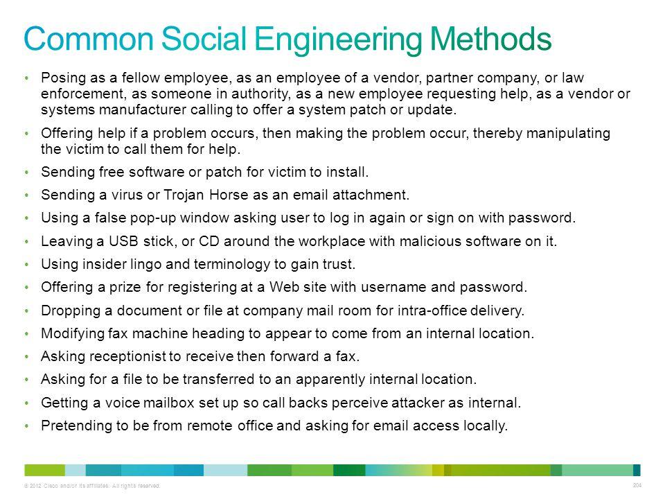 Common Social Engineering Methods