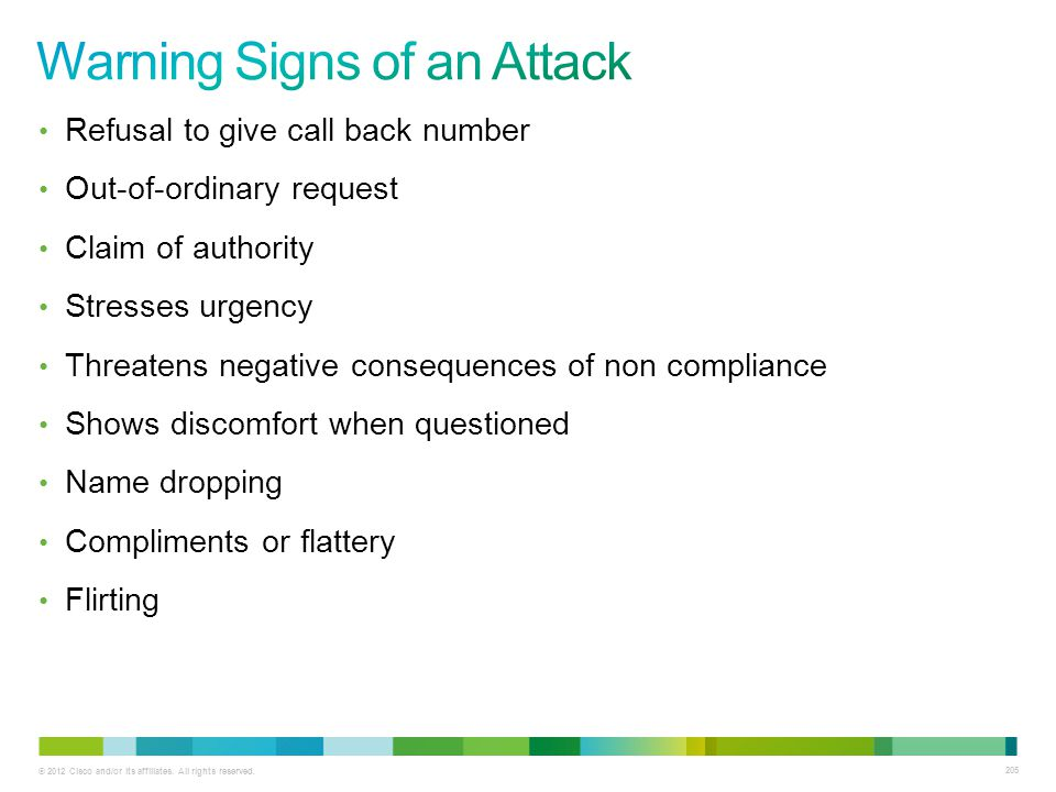 Warning Signs of an Attack