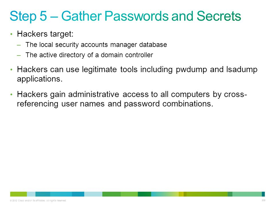 Step 5 – Gather Passwords and Secrets