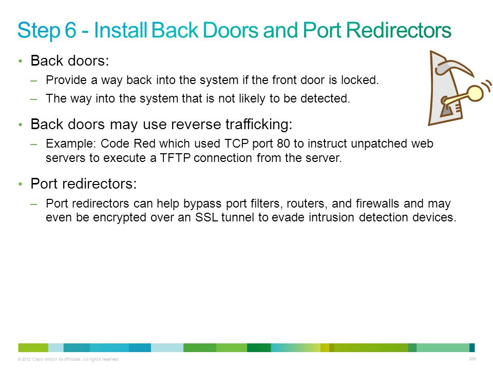 Step 6 - Install Back Doors and Port Redirectors