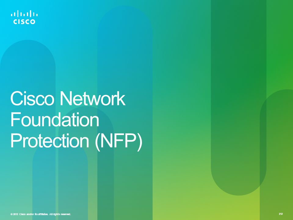 Cisco Network Foundation Protection (NFP)