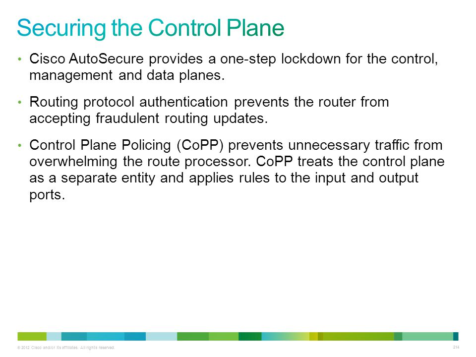 Securing the Control Plane