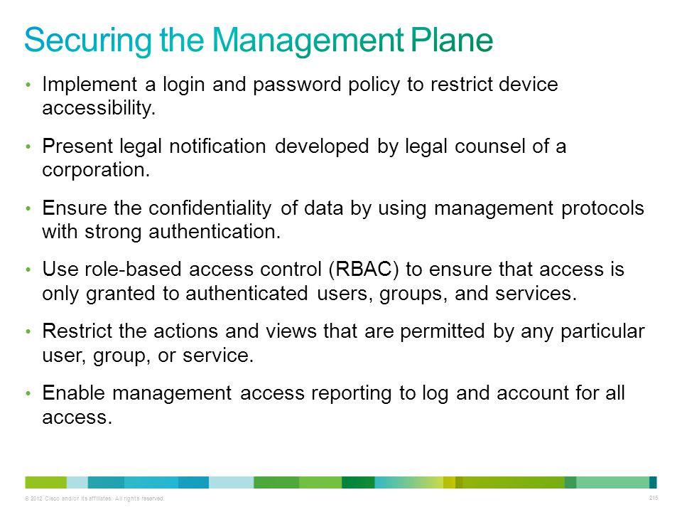 Securing the Management Plane