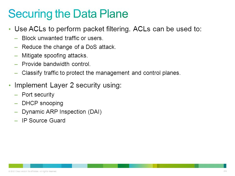Securing the Data Plane