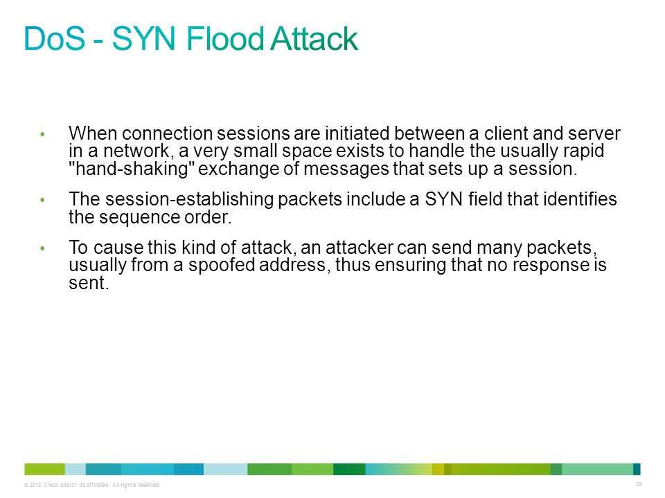 DoS - SYN Flood Attack