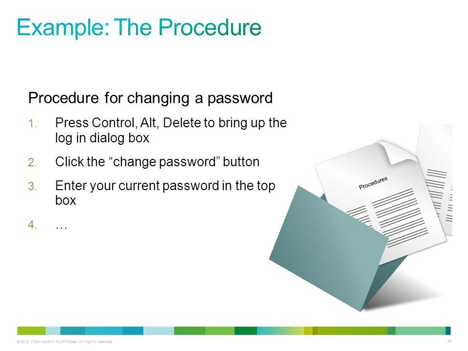 Example: The Procedure