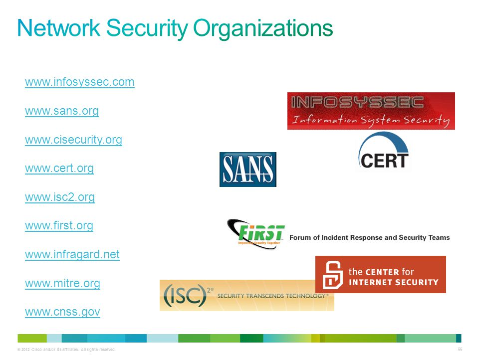 Network Security Organizations