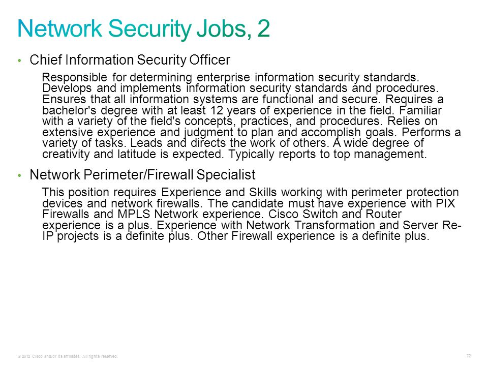 Network Security Jobs, 2 Chief Information Security Officer