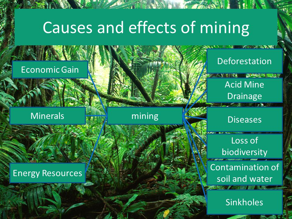 Causes and effects of mining