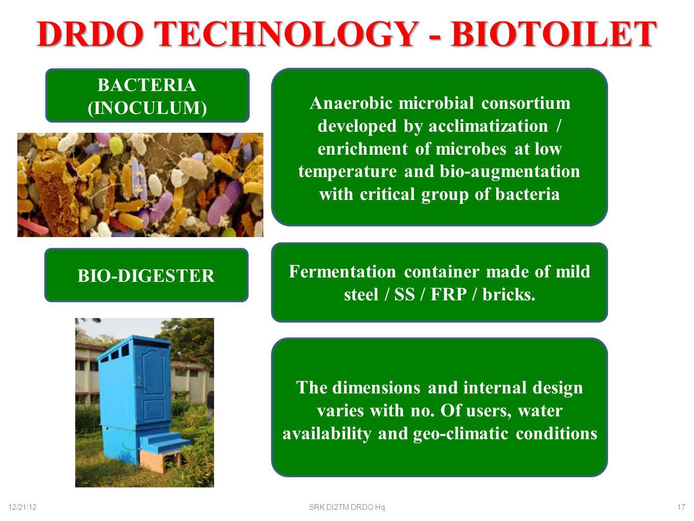 DRDO TECHNOLOGY - BIOTOILET