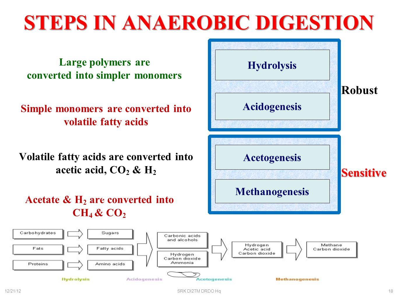 STEPS IN ANAEROBIC DIGESTION