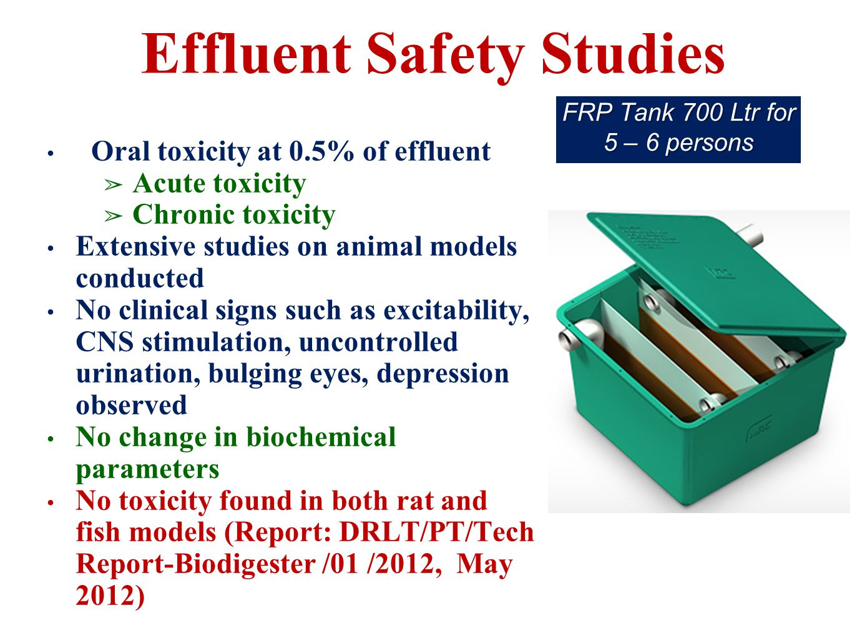 Effluent Safety Studies
