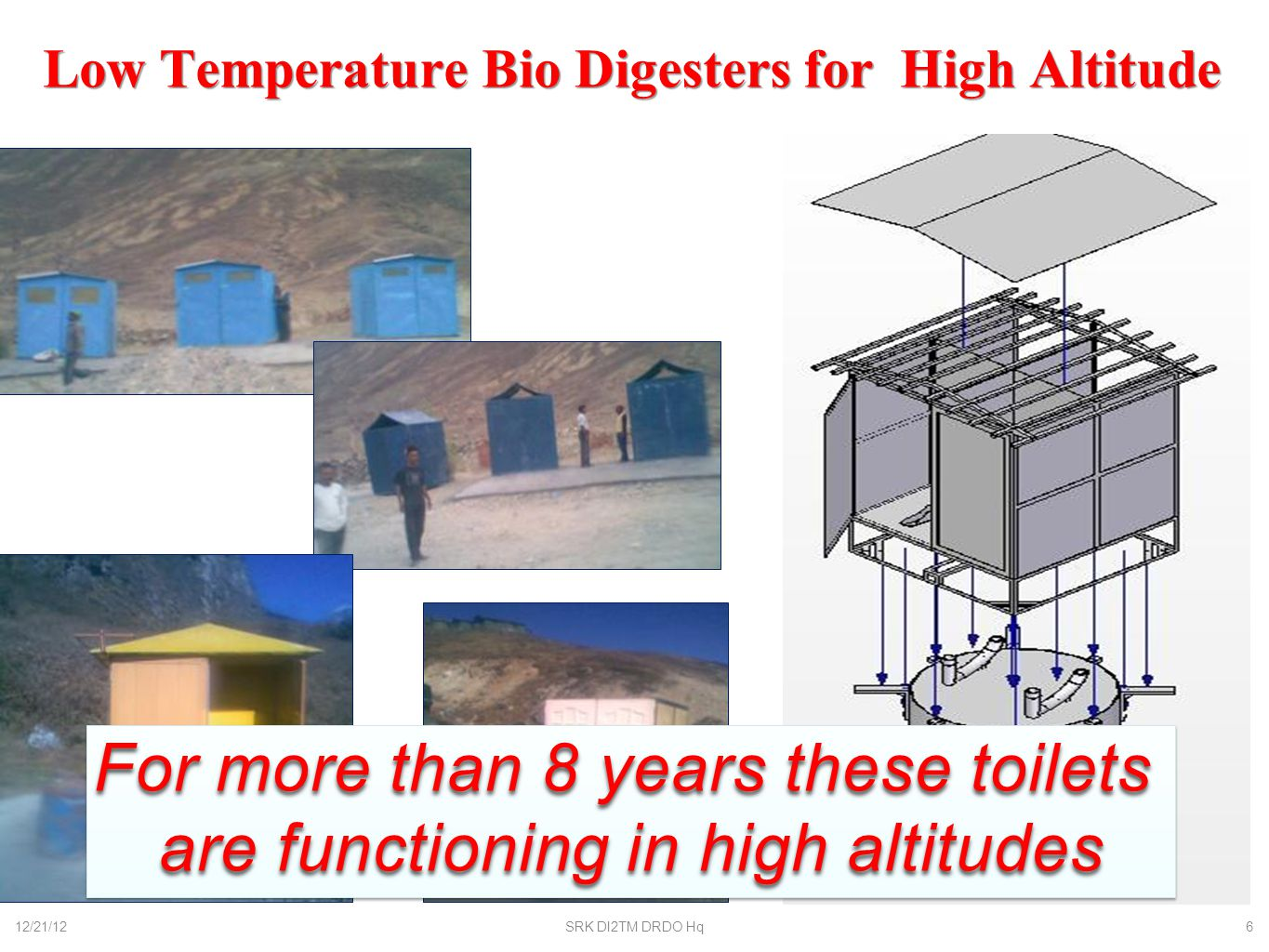 Low Temperature Bio Digesters for High Altitude