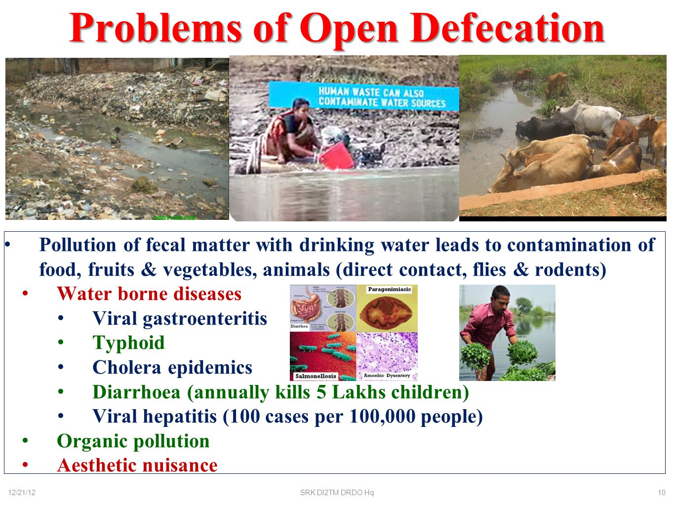 Problems of Open Defecation