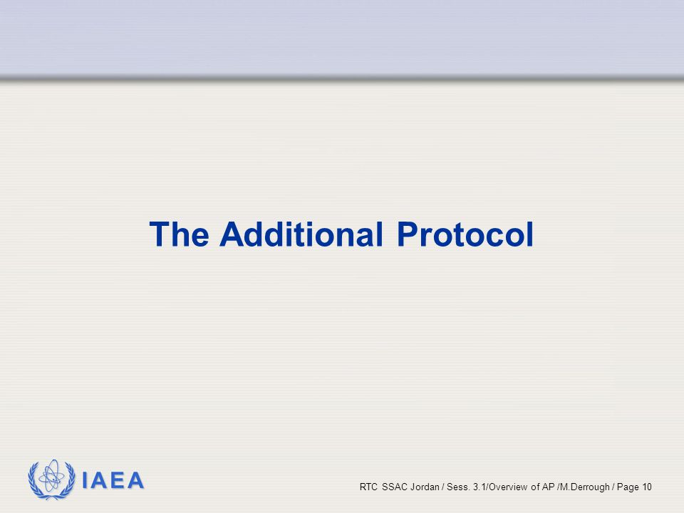 The Additional Protocol
