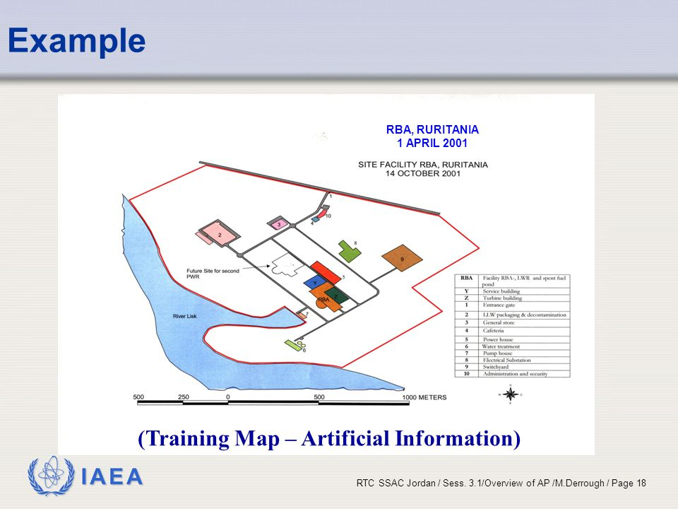 Example (Training Map – Artificial Information) RBA, RURITANIA