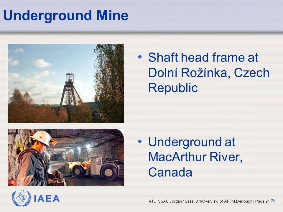 Underground Mine Shaft head frame at Dolní Rožínka, Czech Republic