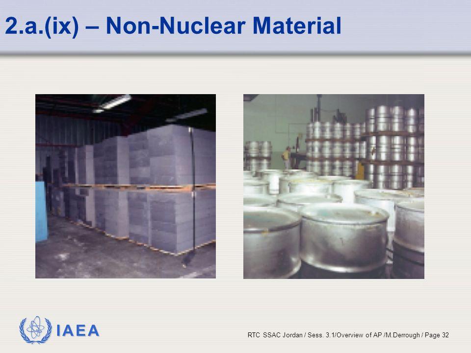 2.a.(ix) – Non-Nuclear Material